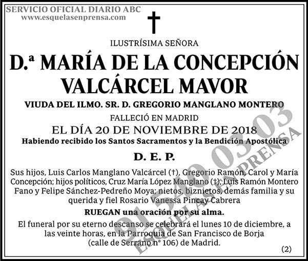 María de la Concepción Valcárcel Mavor